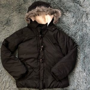 Old navy frost free fleece lined puffer coat